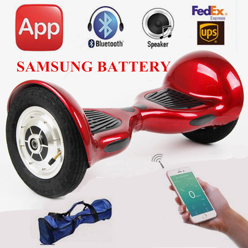 Self Balancing Scooter 10inch hoverboard Smart balance Samsung Battery Bluetooth Key 700W Skateboard stand up scooter ul2272(China (Mainland))