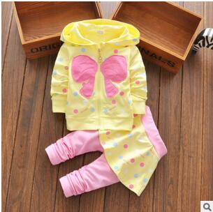 hot toddler girl set kids winter children heart bow clothes set bowknots baby girls tracksuits sweatshirts and pants outfit set(China (Mainland))