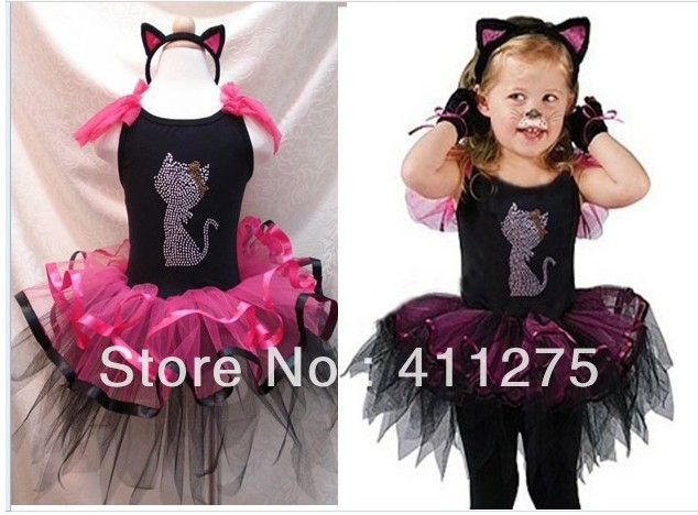 baby/children/girl/girls pettiskirt tutu skirts party dancing ball gown petti skirt dress/dresses cartoon cat  IT<br><br>Aliexpress