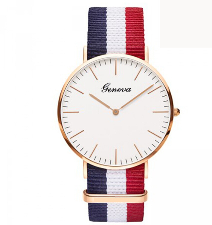 2015 watches men luxury brand quartz dw women real leather nylon strap rose gold good Quality new sports casual vintage watch(China (Mainland))