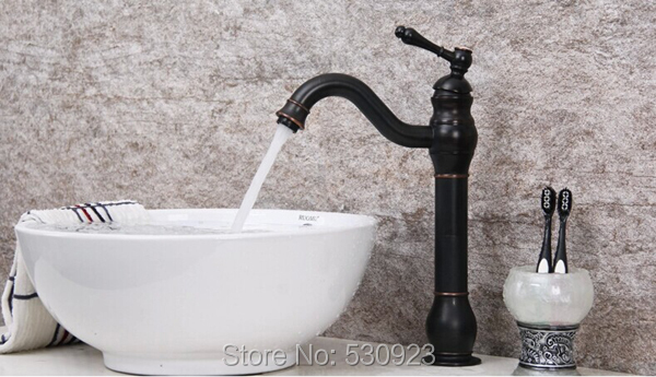 Фотография Newly US Free Shipping Wholesale And Retail Deck Mounted Oil Rubbed Bronze Bathroom Sink Basin Faucet Mixer Tap Traditional