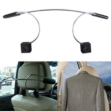 Free Shipping 1pc Stainless Steel Car Auto Seat Headrest Coat Hanger Clothes Jackets Suits Holder(China (Mainland))