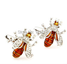 Rare Exquisite Novelty Bee Shape Cufflinks High Quality Men's Wedding Groom Party Shirt Dress Sleeve Cuff Links,Free shipping