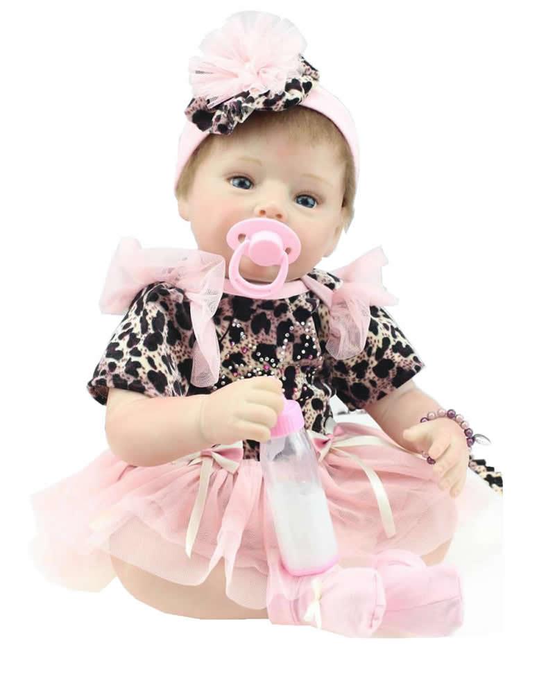 Здесь можно купить  22inch Princess Doll Silicone Reborn Toddler Dolls Lifelike Doll Reborn Babies Handmade  Baby Toys Christmas Gift  Игрушки и Хобби