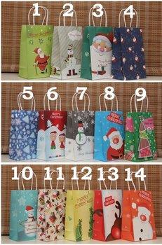 21x13x8cm 2012 New fashion Christmas gift bag,Twisted handle Christmas shopping bag 50pcs/lot PBC05 free shipping