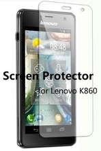 clear Screen Protector Film Guard for Lenovo K860 without retailer package Free Shipping 500pcs/lot(China (Mainland))