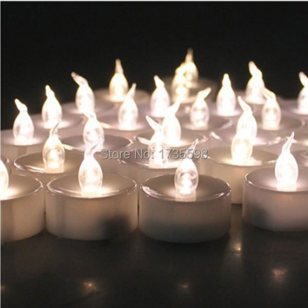 48 pcs Warm White Flameless Candles Bulk Tea Candle Christmas Candle For Wedding Christmas Halloween Easter Party Birthday(China (Mainland))