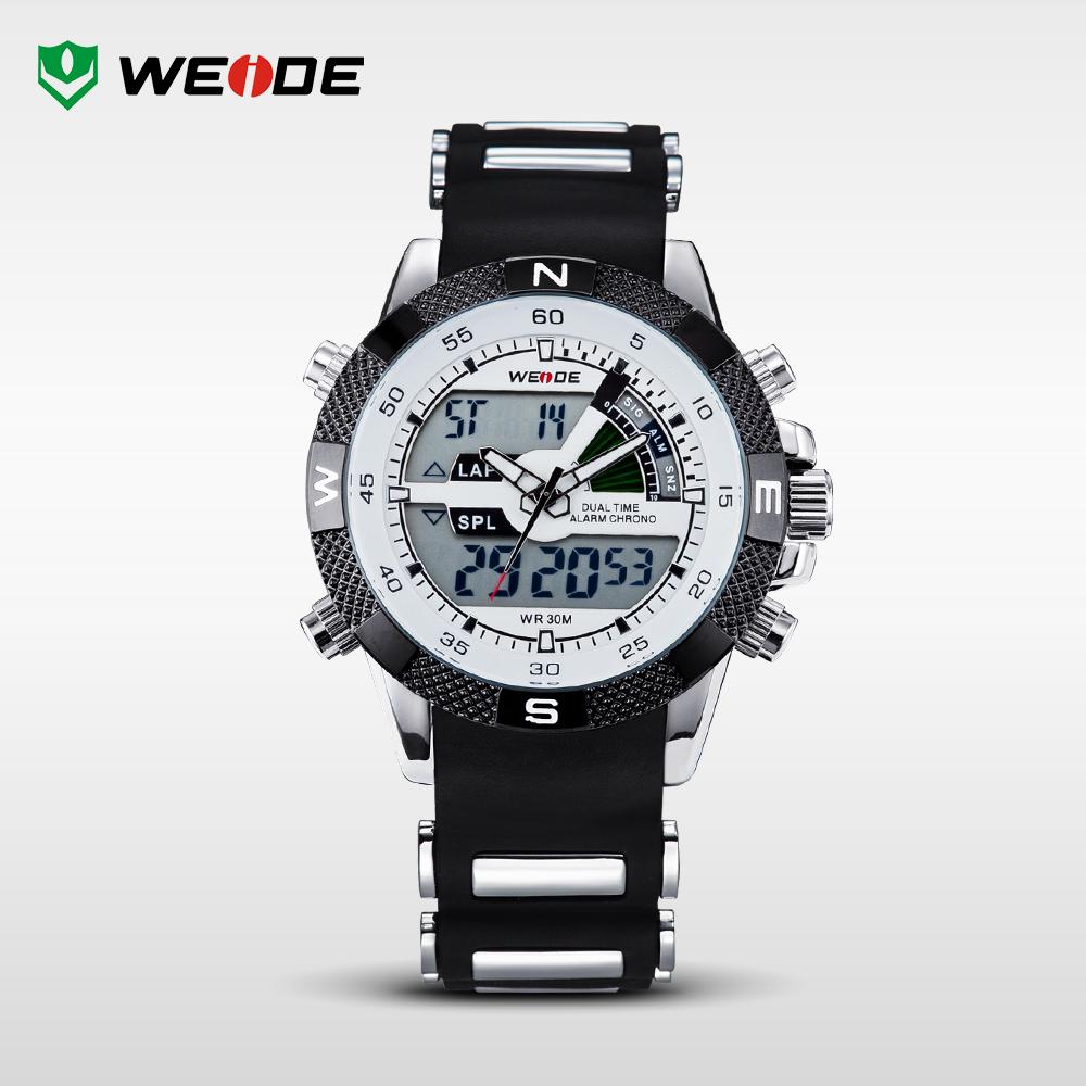Hot! WEIDE Watches Men Luxury Brand Famous Logo Military LCD Luminous Analog Digital Date Week Alarm Display Relogio Masculino(China (Mainland))