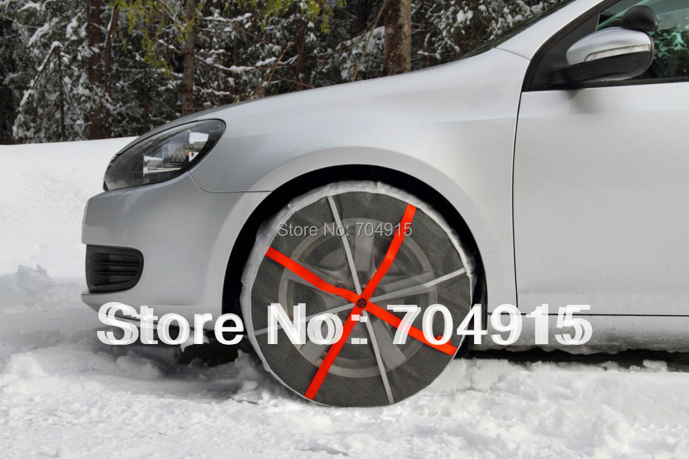 Fabric snow chain autosock snow sock snow tyre for cars in winter International Authorized  TUV Certification free shipping(China (Mainland))