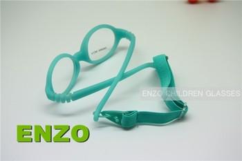 Детские оптических стекол с ремешком цельный не винт сгибаемыми, Силикон малыша очки ...