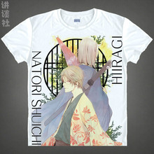 Natsume Takashi T-shirts kawaii Japanese Anime t-shirt Manga Shirt Cute Cartoon Madara cat Cosplay shirts 37706402403 tee 147