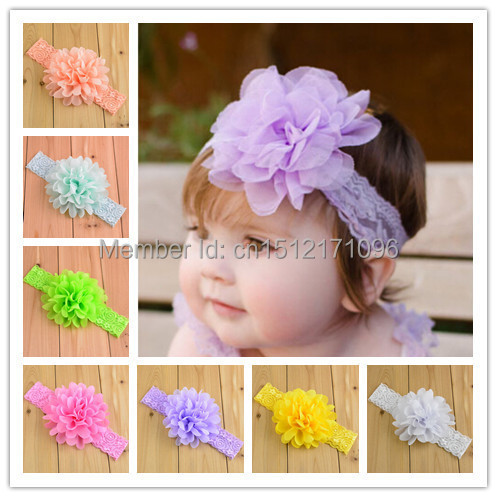 Hot ! Baby Girls Kids Lovely Roses Pearls Hair Bands Vintage Flowers Hair Accessories Pretty Headbands Infant Headbands 16 Color(China (Mainland))