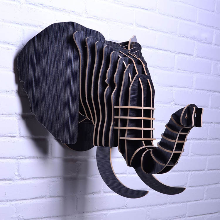 Creative Home Decorations 3d Wooden Animal Wood Elephant: african elephant home decor