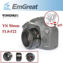 100% Original YONGNUO YN 50mm YN50mm Lens F1.8 Large Aperture Auto Focus Lens for Canon EOS 5D2 5D3 650D 600D DSLR Cameras(China (Mainland))