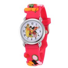 Hot Sale Hello Kitty Watches 2016 Children Cartoon Watch Kids Cool 3D Rubber Strap Quartz Watch