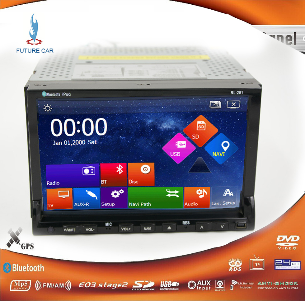 WinCE 8 in dash Double 2 Din car PC we Universal Radio Audio VW / toyota / mazda GPS Navi DVD, car CD MP3 usb sd BT player()