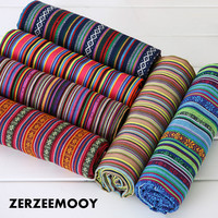 ZERZEEMOOY 100X145CM polyester/cotton fabric ethnic decorative fabrics for sofa cover cushion cloths curtains