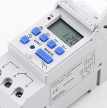 DIN RAIL DIGITAL PROGRAMMABLE TIMER SWITCH 220VAC 16A(China (Mainland))
