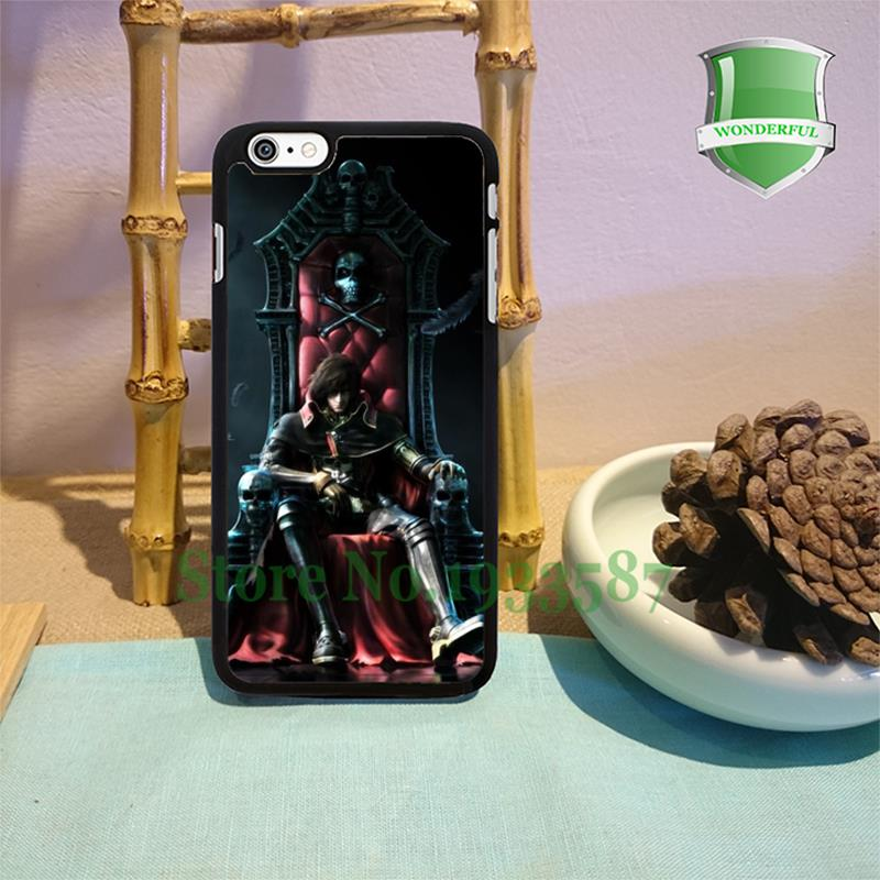 space pirate captain harlock original black cell phone cases for iphone 6 6 plus 6s 6splus 5 5s 5c 4 4s W-4230(China (Mainland))