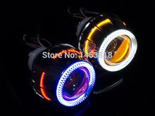 Buy 2.8'' inch Bi Xenon Lens Projector CCFL Double Angel Eyes 35W HID Slim Ballast H4 H11 HB3 H1 H7 HB4 9004 9007 8000K 6000K 4300K for $107.78 in AliExpress store