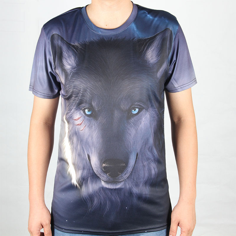 Star War t shirt Men Sale Price T shirt Individuality tshirt print Wolf pattern t shirt Custom Tee Shirts Size S-4XL(China (Mainland))