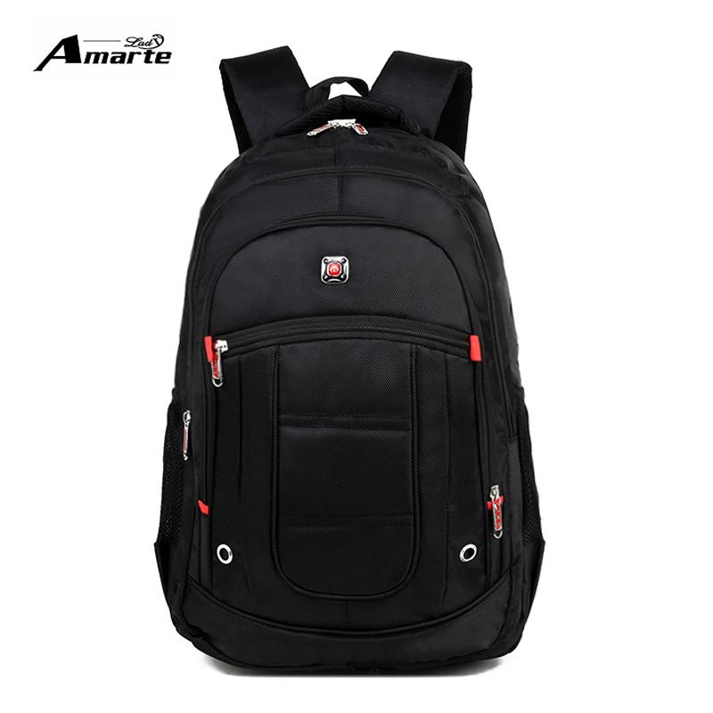 2017 Men and Women Laptop Backpack 15.6 17 Inch Rucksack SchooL Bag Travel waterproof Backpack Male Notebook Computer Bag black(China (Mainland))