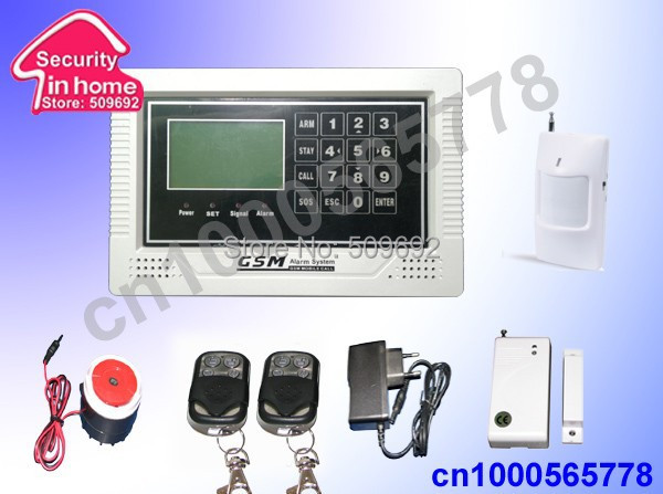 Фотография LCD wireless and wired touch screen GSM alarm system with intercom and voice reminder free shipping