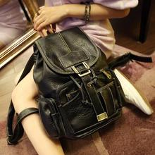 New Arrivals Women Backpacks Fashion Vintage Backpacks for Teenage Girls Students School bags High Quality PU leather 3/4(China (Mainland))
