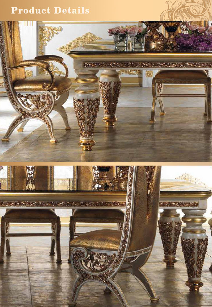 European style refined wood carved decorative dining room for Decorative items for dining room
