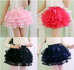 New fashion girls tutu skirts baby ballerina skirt childrens chiffon fluffy pettiskirts kids Hallowmas casual tutu skirt(China (Mainland))