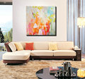 Large canvas wall art acrylic decorative pictures abstract painting hand painted oil painting set supplies for