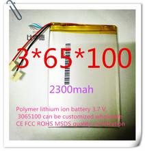 Полимер литий-ионный аккумулятор 3.7 В, 3065100 могут быть настроены CE FCC ROHS сертификацией обращению