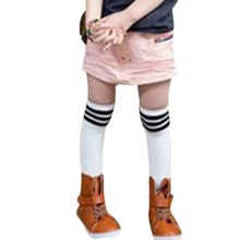 79 Kids School Stripe Stocks Girl Soft Cotton socks High Knee Elastic Socks(China (Mainland))