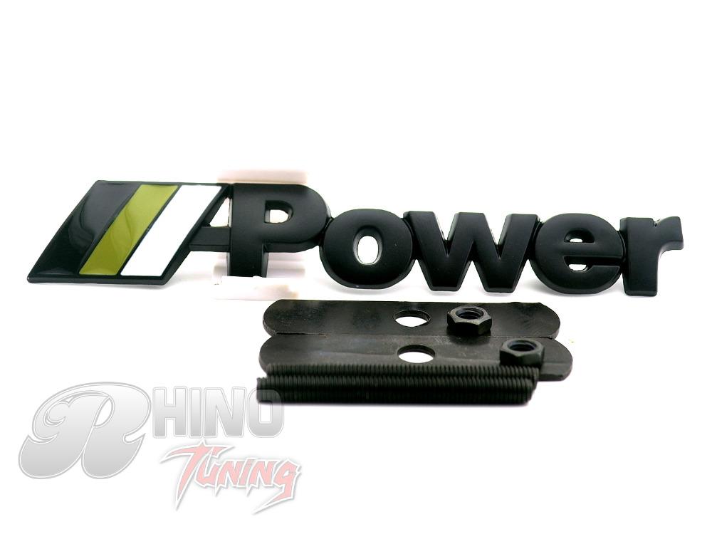 Black ///M Power Badge Car Font Grill Grille Emblem M Sport Car Hood Bonnet Grille Badge 694bk(China (Mainland))