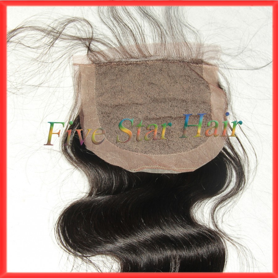 2015 New 100% real Virgin Unprocessed Human hair silk base closure free part Brazilian body wave lace closure with baby hair <br><br>Aliexpress