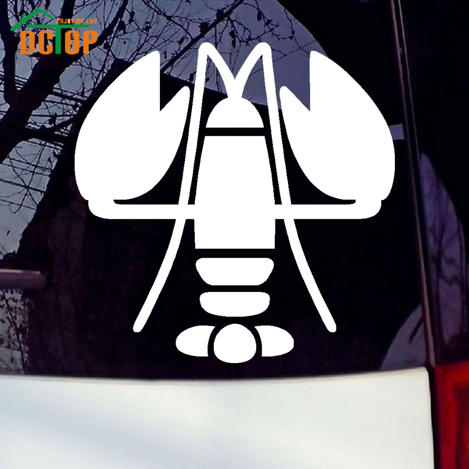 Sticker design for car online - Art Design Of Lobster Car Sticker Animal Car Sticker Car Removable Vinyl Adhesive Window Stickers For