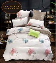 YAXINLAN bedding set Noctilucent Two colors Pure cotton Plant flowers Flower Patterns Bed sheet quilt cover pillowcase 4-7pcs(China)