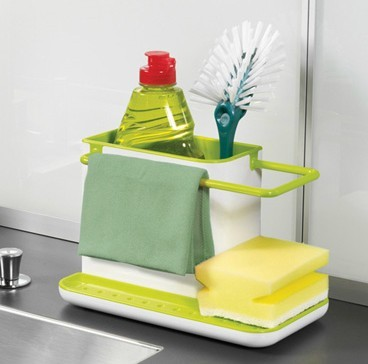 Caddy Self Draining Sink Tidy Sink Aid Organizer Brush Sponge Cleaning Cloth Holder Tidy Flower Type kitchen draining rack dishs(China (Mainland))