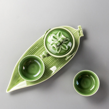 Buy Handmade Porcelain Teapot & 2 Cups Set Tea Tray Ceramic Green Tea Set Base Kung Fu Teaware Ceremony Gift D039 for $23.81 in AliExpress store