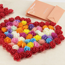 30pcs Mini PE Foam Artificial Rose Flowers For Wedding Car Decoration DIY Wreath Decorative Valentine Day Fake Flowers(China (Mainland))