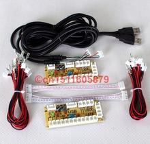 2 игроки новый нулевой задержкой пк USB джойстик печатной платы управления USB к аркада файтинг JAMMA MAME и Sanwa игры-white 5PIN + Sanwa стиль