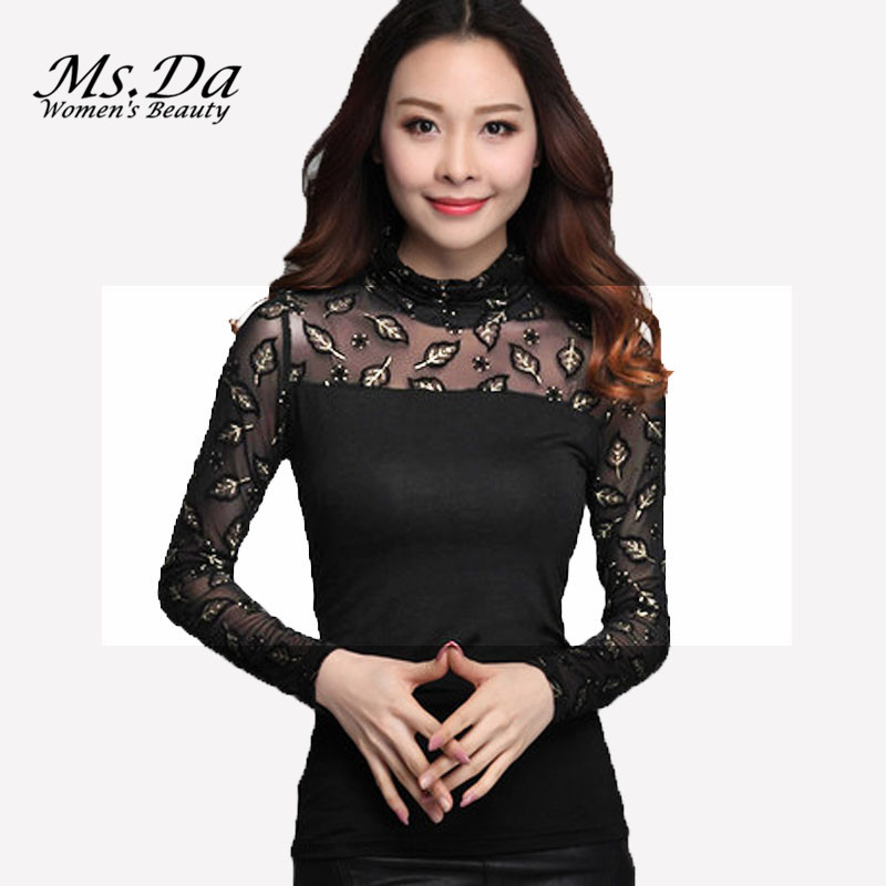 Plus size t shirts 2015 new fashion turtleneck tops sexy for Turtleneck under t shirt