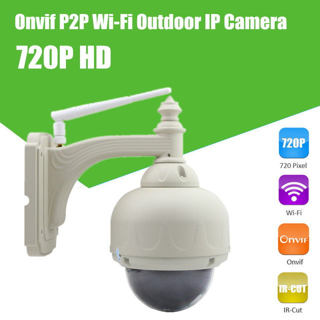 5x Zoom Pan/Tilt PTZ Rotate Wireless WiFi IR Cut Infrared Outdoor Waterproof Security Video Surveillance Internet Dome IP Camera