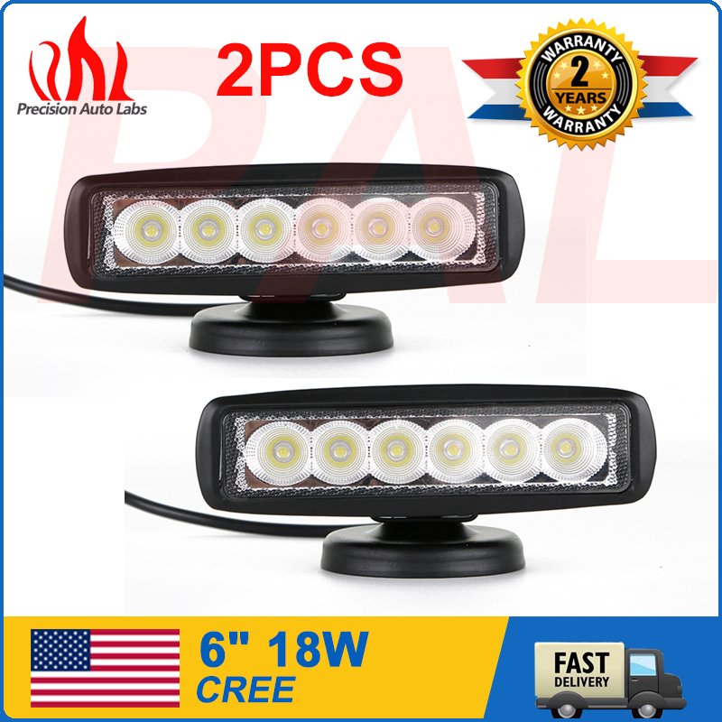 2 Pieces 18W CREE Led Work Light Bar Driving Offroad Car For Jeep Truck 4WD ATV USX2(China (Mainland))