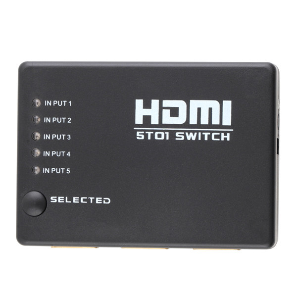 Mini 5 Port 1080P Video HDMI Switch Switcher HDMI Splitter with IR Remote splitter box Wholesale<br><br>Aliexpress
