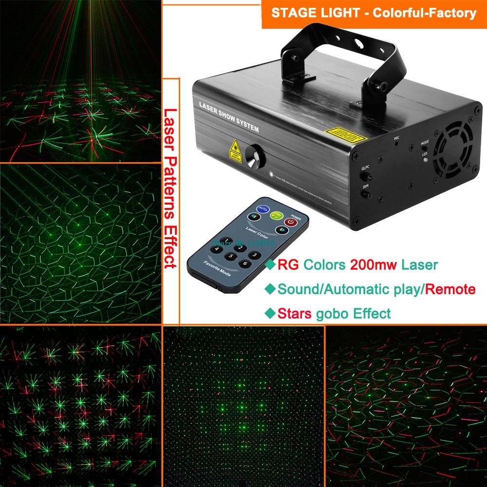 new 200mw RG laser projector stars gobo remote dance bar Xmas Party Disco DJ effect lighting Light stage Lights Show system B149(China (Mainland))