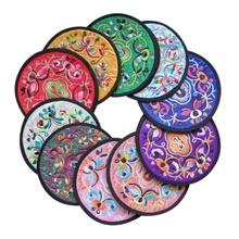 10Pcs Mug Cup Holder Tea Cup Pad Mat Nylon Fabric Placemat Coasters Cushion(China (Mainland))