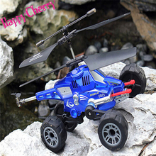 Happy Cherry Mini Hard Remote Control 3.5 Channel RC Flying Aircraft Ground to Air Truck Missiles Helicopter Electric Kids Toy