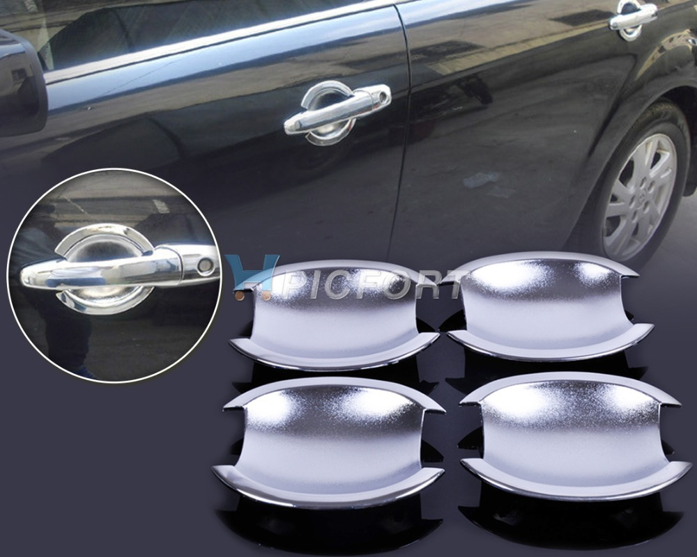 Free shipping & Tracking # New Chrome Door Handle Cup Bowl for Nissan Versa Tiida Latio 2007 2008 2009 2010 2011 2012 - CA00575(China (Mainland))