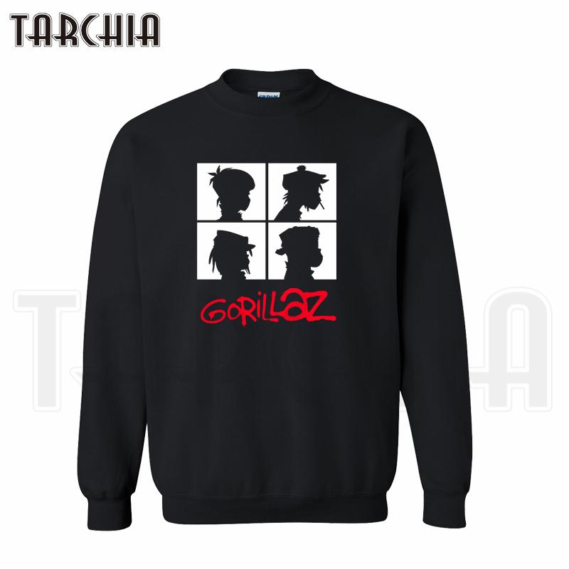 TARCHIA 2016 fashion font b hoodies b font font b sweatshirt b font gorillaz music band